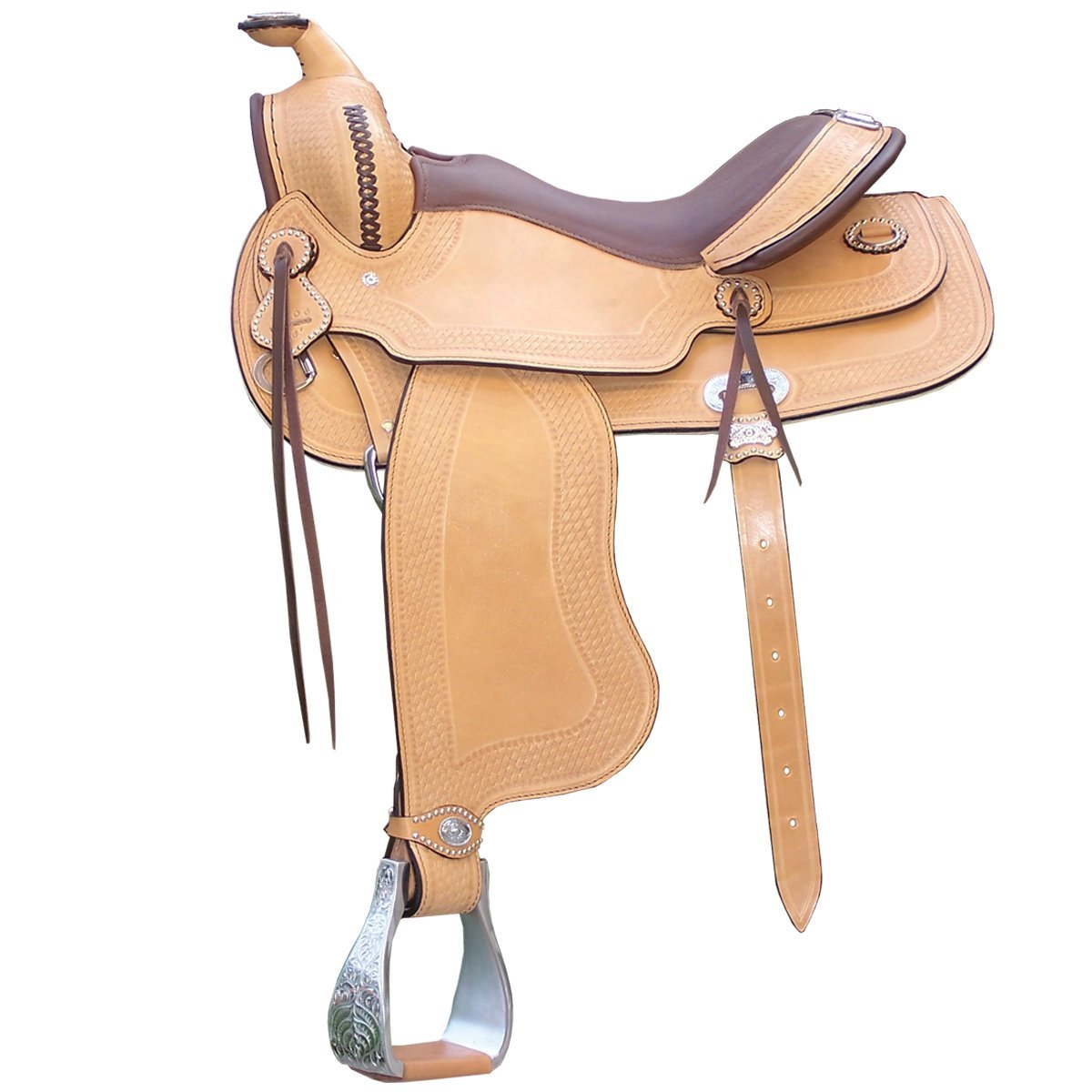 Argy`s Art Psatha Arabian Gullet Western Saddle - Natural, 15.5-Inch