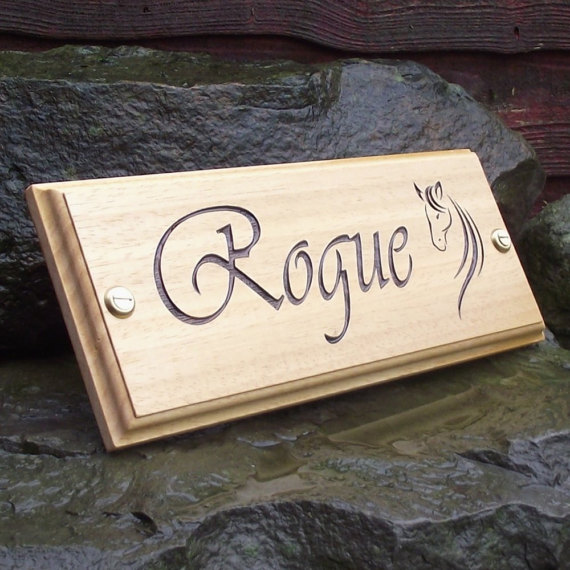 Horse Name Plate Stable Door Sign Plaque