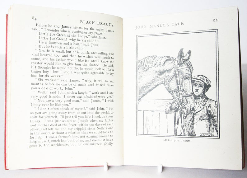 Black Beauty by Anna Sewell, Classic Children`s 1940 Book Vintage old Book Hardback horse Equestrian