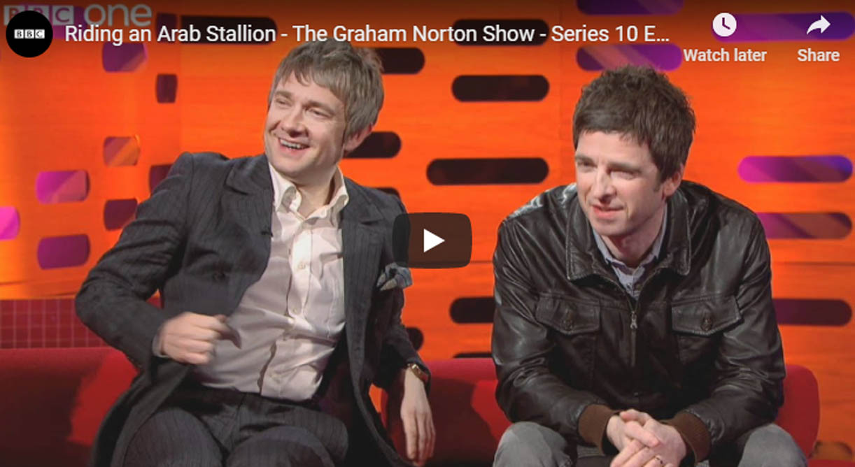 Riding an Arab Stallion - The Graham Norton Show