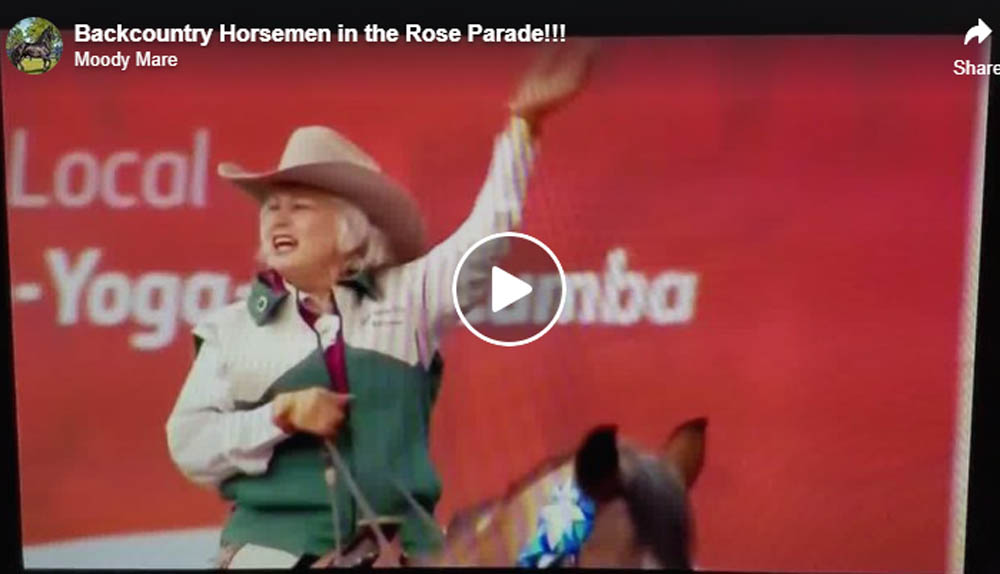 Backcountry Horsemen in the Rose Parade
