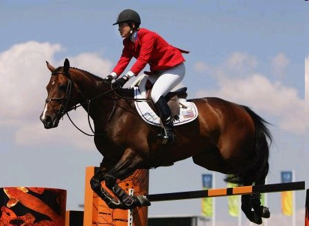 Beezie Madden of the USA competes on Authentic
