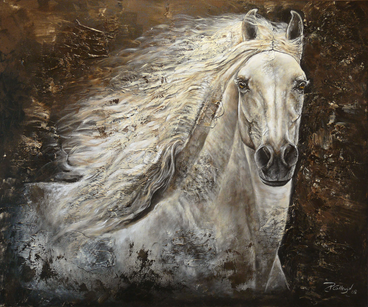 Horse Painting Artworks - Paula Collewijn