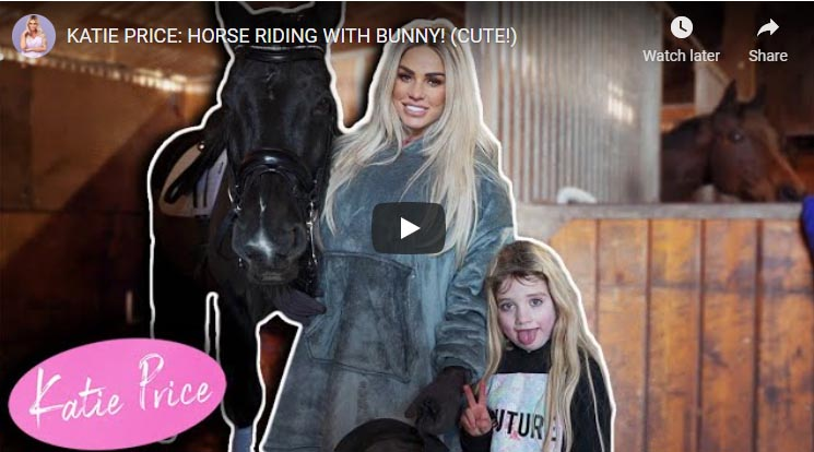 Katie Price: Horse Riding With Bunny (Cute)