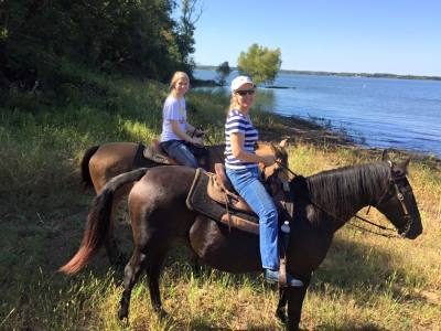 Horseback riding on trails with experienced and gaited horses