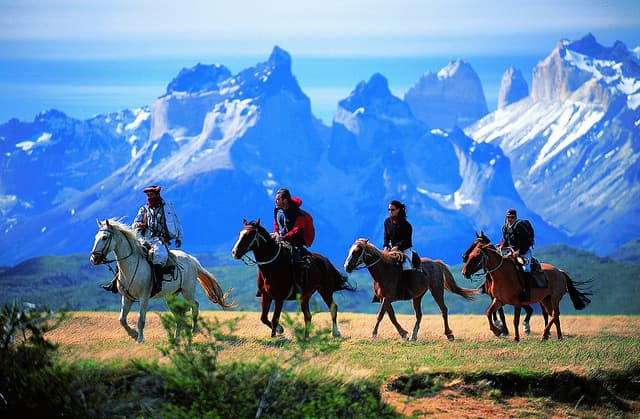 Horseback Riding In Patagonia, South America
