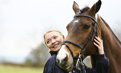 Jodie Kidd and her horse