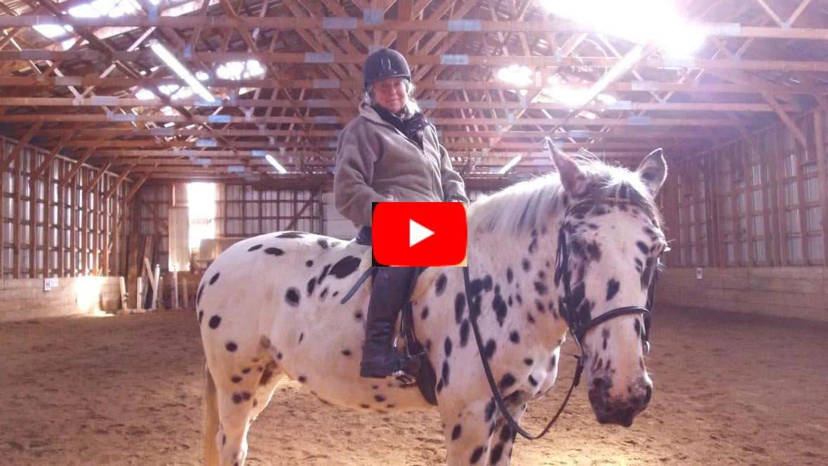 83 year old Judith Hubbard, her Appaloosa gelding named Leonard is more than just a horse