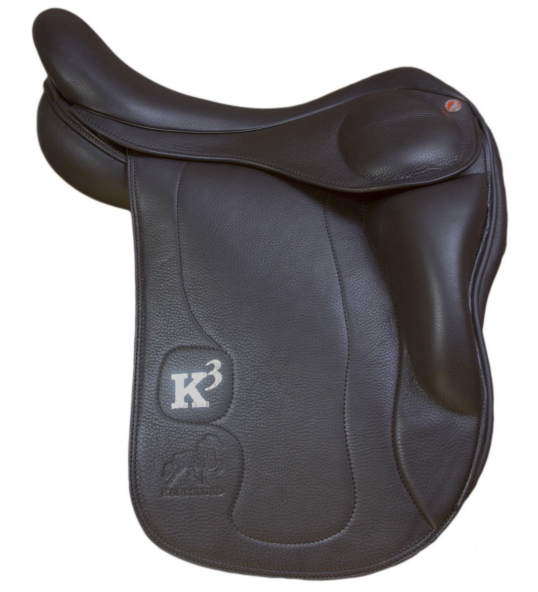 Karlslund Riding Equipment K3 Saddle with Short Knee Blocks - Black, 16-Inch/44 cm