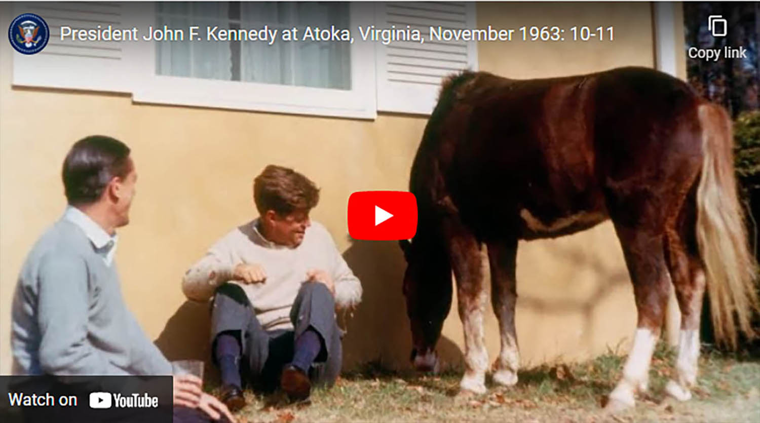 President John F. Kennedy and the Family at Atoka, Virginia, November 1963 - Virginia Horse County