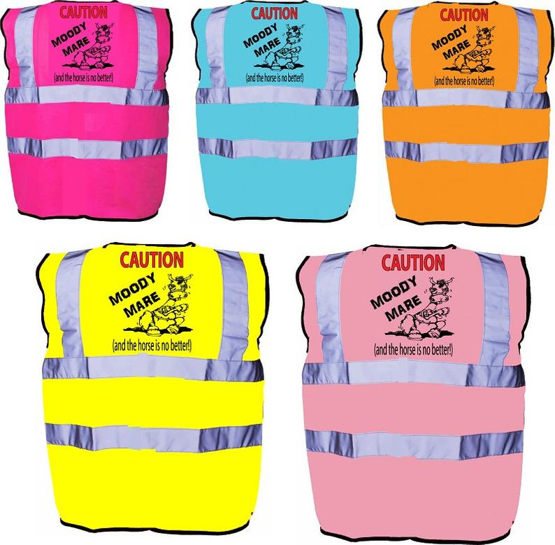 Moody Mare Equestrian Horse Riding Safety Hi Visibility Vest