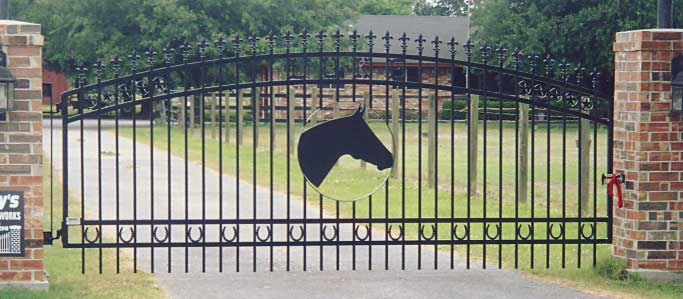 Horse Themed Iron Gate