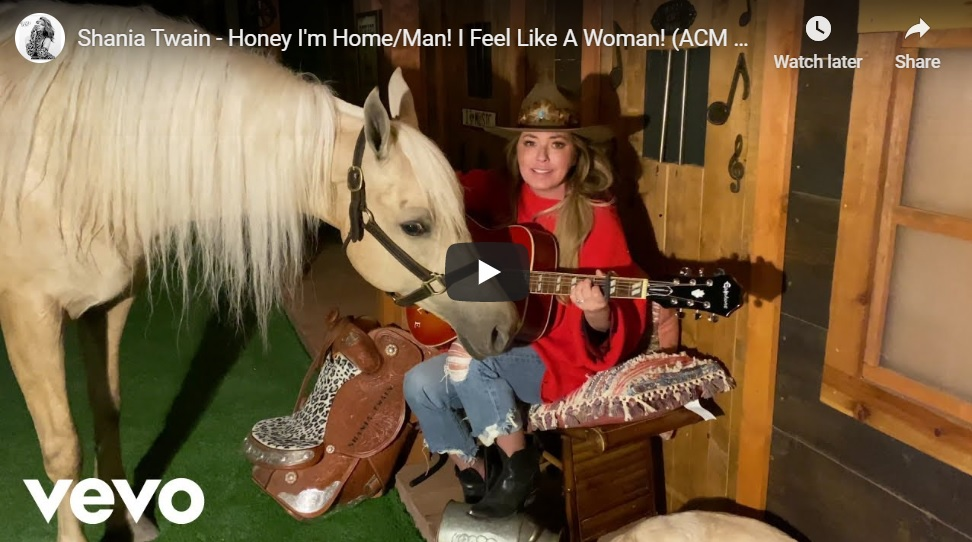Shania Twain`s Horse Won`t Be Left Out During Home Concert