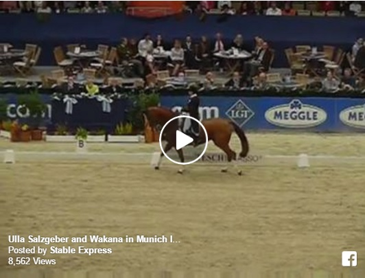 Ulla Salzgeber and Wakana winning the CDI3* at Munich