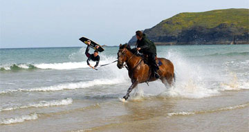 Wakeboarding With Horses