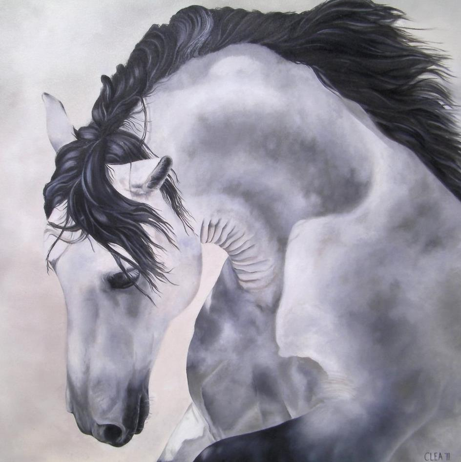 Horse stunning painting
